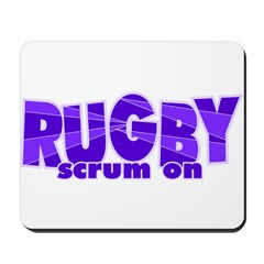 Girls Rugby Purple Mousepad