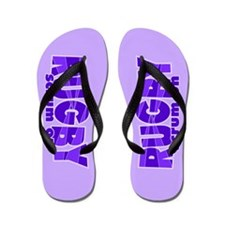 Girls Rugby Purple Flip Flops