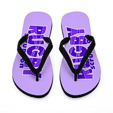 Girls Rugby Purple Flip Flops