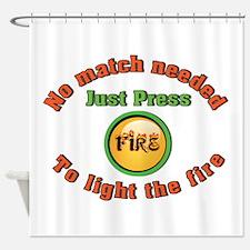 Fire Button Shower Curtain