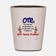OTR Imagination Old Time Radio Shot Glass
