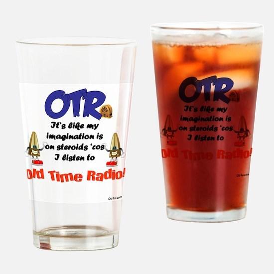 OTR Imagination Old Time Radio Drinking Glass
