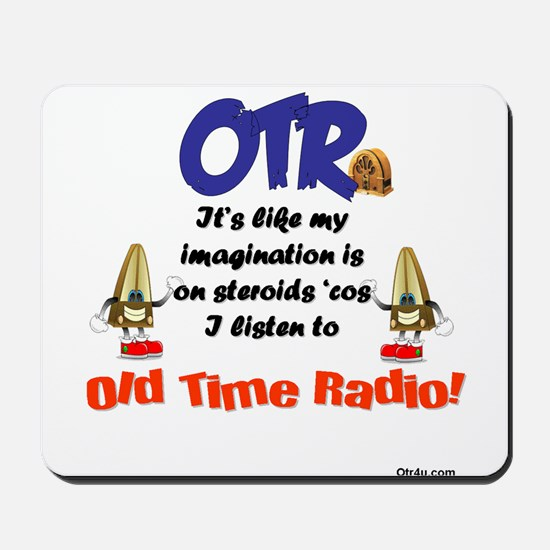 OTR Imagination Old Time Radio Mousepad
