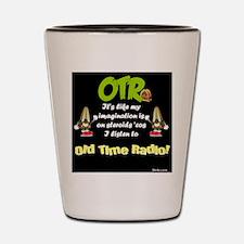 OTR Imagination Dark Old Time Radio Shot Glass
