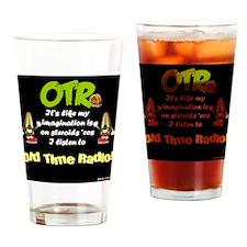 OTR Imagination Dark Old Time Radio Drinking Glass