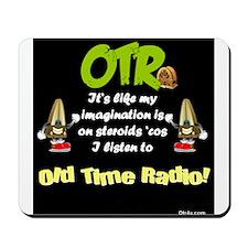 OTR Imagination Dark Old Time Radio Mousepad