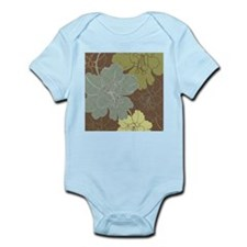 Blue Brown Hibiscus.jpg Infant Bodysuit