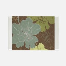 Blue Brown Hibiscus.jpg Rectangle Magnet