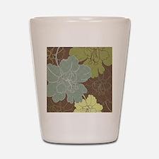 Blue Brown Hibiscus.jpg Shot Glass