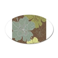 Blue Brown Hibiscus.jpg 22x14 Oval Wall Peel