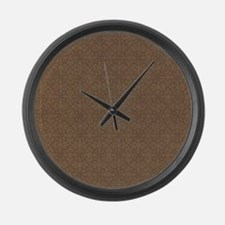 Brown Crosses.jpg Large Wall Clock