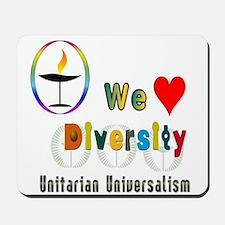 UU We Love Diversity.png Mousepad
