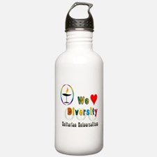 UU We Love Diversity.png Water Bottle