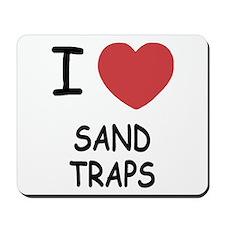 I heart sand traps Mousepad