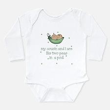Cute Pea Long Sleeve Infant Bodysuit