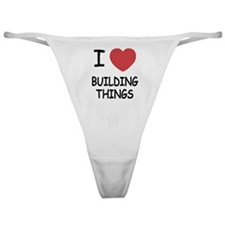 I heart building things Classic Thong