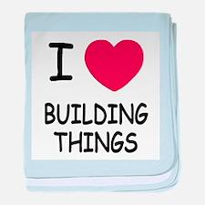 I heart building things baby blanket