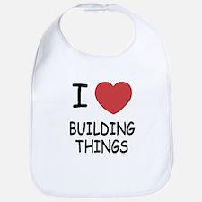 I heart building things Bib