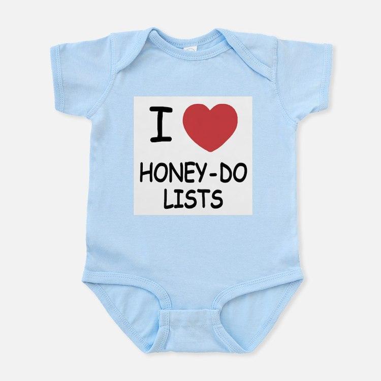 I heart honey-do-lists Infant Bodysuit