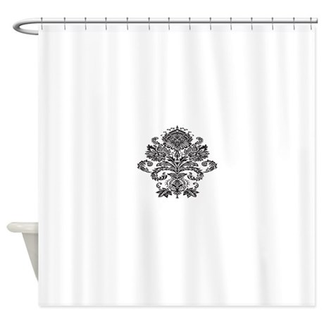 Single Damask.png Shower Curtain