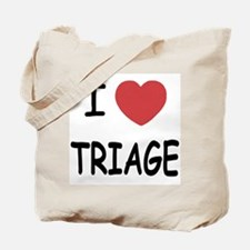 I heart triage Tote Bag
