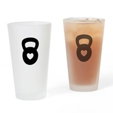 Cute Weight lifting Drinking Glass