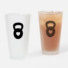 Cute Barbell Drinking Glass