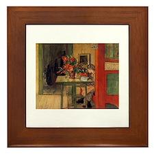 The Reader, Carl Larsson Framed Tile