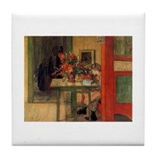 The Reader, Carl Larsson Tile Coaster