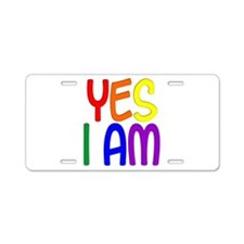 Yes I Am Aluminum License Plate