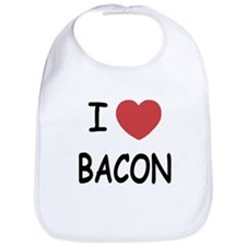 I heart bacon Bib