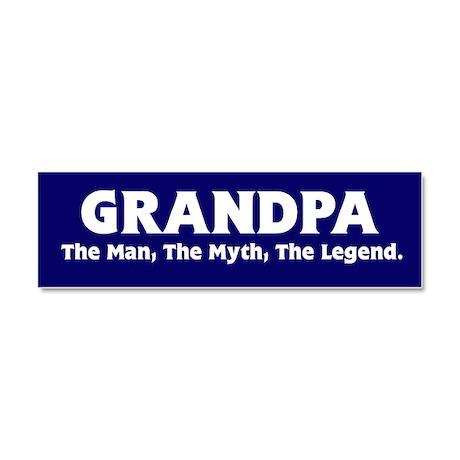 Grandpa The Legend Car Magnet 10 x 3