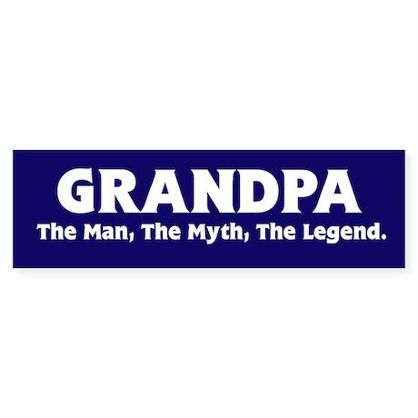 Grandpa The Legend Bumper Sticker