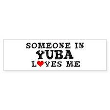 Yuba: Loves Me Bumper Bumper Sticker