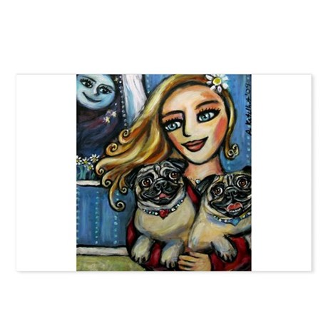 pug momma love Postcards (Package of 8)