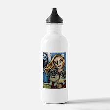 pug momma love Water Bottle