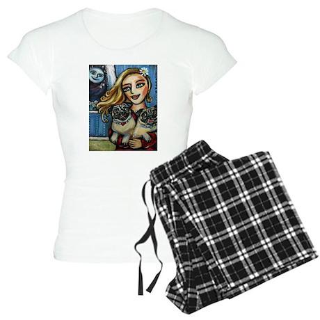 pug momma love Women's Light Pajamas
