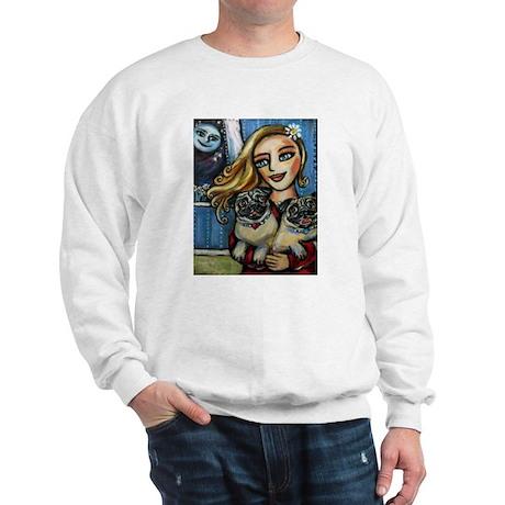 pug momma love Sweatshirt