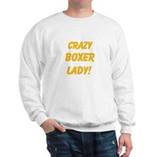 Crazy Boxer Lady Yellow design Jumper