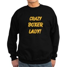 Crazy Boxer Lady Yellow design Jumper Sweater