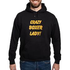 Crazy Boxer Lady Yellow design Hoody