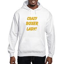 Crazy Boxer Lady Yellow design Hoodie
