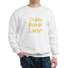 Crazy Boxer Lady Yellow design Jumper