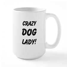 Crazy Dog Lady dark 3 design Mug
