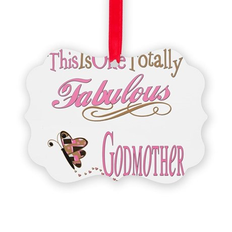 FabPinkBrowngodmother.png Picture Ornament