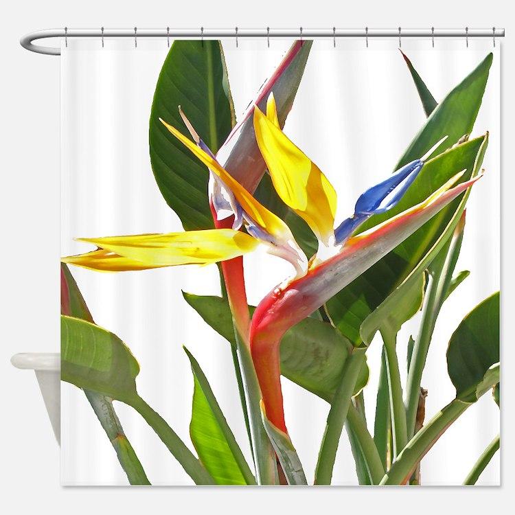 Bird Of Paradise Shower Curtains Bird Of Paradise Fabric Shower Curtain Liner