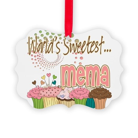 Sweetest mema copy.png Picture Ornament
