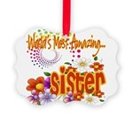 Amazing sister copy.png Picture Ornament