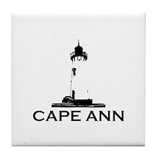 Cape Ann - Lighthouse Design. Tile Coaster