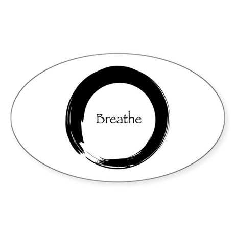 Enso with Breathe Sticker (Oval)